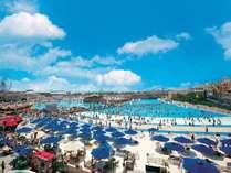 【ラグナシア】夏は最大波高1mの波立つジャンボプールに!