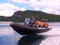 世界最大の二重カルデラ湖を巡る【グリランド   RIBツアー】