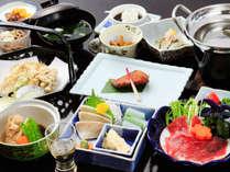 ■【お夕食一例】季節の味わいを一同にお楽しみください♪