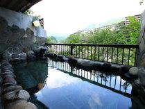 【露天風呂】鬼怒川のせせらぎをききながらゆっくりを温泉をお楽しみください