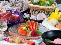 【夕食一例】豊かな自然に恵まれた地元栃木の食材を中心に。旬にこだわり四季を彩るお料理の数々