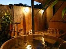 自家源泉掛け流し露天風呂