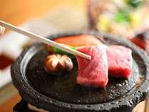 【グレードアップ会席/信州産特選牛の石焼】とろける柔らかさの特選牛を石焼で♪