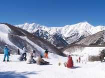 初級者から上級者まで!林間コースも充実!鹿島槍スキー場リフト1日券付◆朝食付プラン