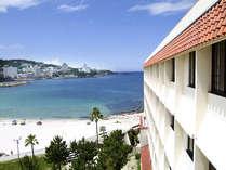 海がすぐそこ!白良浜に直結する当ホテルならではの海一望の大パノラマをお愉しみください