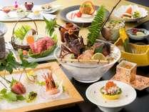 【お部屋食/しらら優雅会席】伊勢海老お好み料理、牛肉を含む特別会席料理