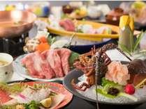 伊勢海老お好み料理を含むお品書き。お造り、焼、煮などお好みの調理方法にてご用意いたします。
