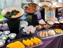 梓水苑のおいしい朝食(※人数によりバイキングとなります)