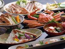 6種の蟹料理を満喫できる蟹フルコース(一例)。〆には蟹雑炊も!!