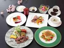 【鉄板焼ランチコース~彩】お一人様 4,000円(サ込・税別)目の前で焼かれる食材は全て一級品。