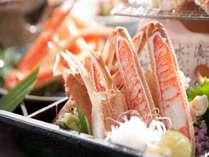 甘~い蟹刺し。蟹刺しは別注料理としてもご用意できます。予めお問合わせくださいませ。
