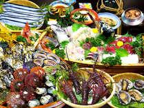 ○ちょっと涼しいお食事処に場所変更○伊勢えび&活あわび付 海女小屋体験デラックスプラン