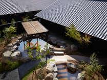 ★伊王島「島風の湯」 庭園露天風呂:昼は青空、夜は星空。