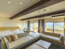 デラックスツインタイプは70平米の広い客室をお二人で贅沢に。
