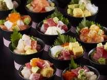 お好みで作る海鮮丼も食べ放題!