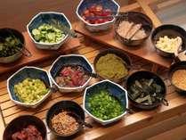 選べる朝食:全40種類の和食バイキング