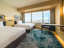 ★高層階★ 17~29階、伝統的な博多湾の色彩を取り入れ「豪華客船」をイメージした客室