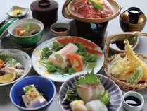 ◆【夕食~会席料理~】瀬戸内の海の幸をふんだんに使った季節の会席料理です。