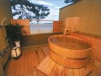 ●【なでしこ】露天風呂付客室(イメージ・お部屋の確約は不可)目の前に広がる菊ヶ浜。心休まる空間がここに