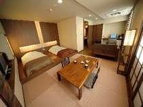 ■モダンデザインが人気のデザイナーズ客室【Btype】和室6帖+洋間スタイル・ツインベット(イメージ)