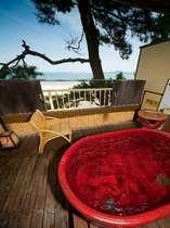 海側保証☆露天風呂付客室【こすもす・3階】(一例)※写真は「こすもす」ですが確約ではありません。