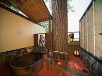 ●【こでまり】露天風呂付客室(イメージ・部屋の確約は不可)大きな松の木が特徴。自然のパワーを感じられる