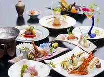 レディース美肌会席/海鮮コラーゲン鍋・ロブスタープレート・むつみ豚ローストサラダなど盛込んだ(一例)