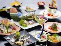 見蘭牛ステーキ☆ミニ雲丹丼会席/団扇海老味噌汁、見蘭牛ステーキ、ミニ雲丹丼など盛込んだ会席(一例)