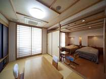 ●和洋室【Btype】和室6畳+ツイン・ベット幅140cm(イメージ)