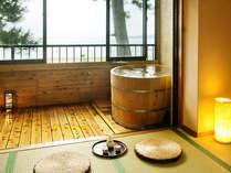●海側☆半露天風呂付客室/菊ヶ浜海岸を見渡せる。季節毎に移り変わる海景色をお楽しみ下さい(イメージ)