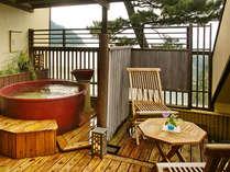 【つばき】◆温泉◆最上階・露天風呂付客室(イメージ)優しく耳うつ波音と潮風に心身をゆだねるひと時を