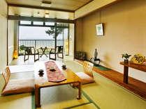 ■眺望客室☆海■日本海と庭園が望めます。潮風を感じながら過ごす爽やかなひととき