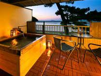 【おみなえし】◆温泉◆露天風呂付客室(イメージ)露天風呂から見える景色で贅沢な時間をお過ごし下さい