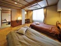 ●和洋室【Atype】和室6畳+ツイン・ベット幅140cm(イメージ)和の安らぎと洋の落ち着いた雰囲気
