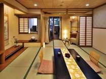 ●露天風呂付客室【おみなえし・温泉付檜風呂/3階・和室12帖】(イメージ)