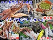 冬の味覚王・かに専門店直送の美味しさ『タグ付ズワイガニ』かに刺し・焼き蟹・かに鍋で用意(イメージ)
