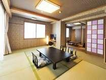 ■【つばき】◆萩指月温泉◆最上階・露天風呂付客室/4階・和室10畳+6畳(イメージ)