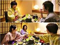 ■夕食・朝食は個室会場で!ゆったりと食事タイムを♪