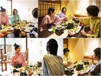 『夕食お部屋食』『個室夕食』『個室朝食』『選べる会席』などディナータイムを楽しむプランが多彩♪