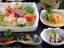3種類のあわび料理つき海鮮満喫プラン一部
