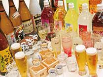 夕食バイキングはプレミアム飲み放題付き!20種以上のアルコール飲料がお楽しみいただけます