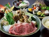 【神戸牛&松茸すき焼きコース】(一例)
