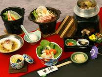 *【オフシーズン料理一例】地元食材にこだわった、料理長自慢の和食膳