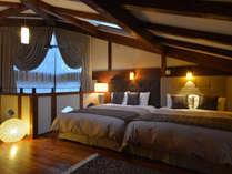 【102号室】NISHIKSWA高級ブランド「ソムニズ」ワイドクイーンベッド。上質な眠りの空間