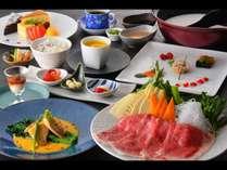 ハートディナー一例。メイン料理が変わることがあります。