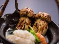 秋の風物詩「松茸」焼松茸や土瓶蒸しをご賞味下さい