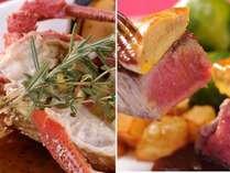 メイン2品が【伊勢海老】【牛ヒレ&フォアグラ】の贅沢なディナー