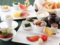 基本の洋食朝食(和食をご希望の場合は予約時に連絡)