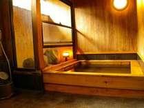 檜の香りがただようお風呂は無料で貸切OK★3~4人程度でも入浴可能です♪