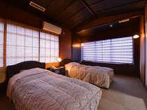 *和洋室ツイン(客室一例)/足を伸ばしてのんびり寛ぎ、夜はベッドで安眠の夜をお過ごし下さい。